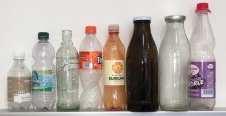 Eine kleine Auswahl der verschiedenen Getränkeverpackungen - Welche ist die ökologischste? (c) Martin Wellacher