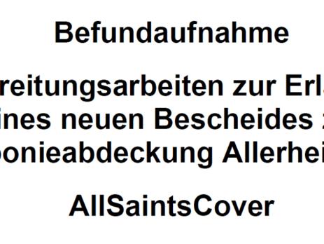 Titelseite des Endberichtes AllSaintsCover