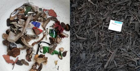 Störstoffe in Kompostüberkorn und gereinigtes Kompostüberkorn (c) Ingenieurbüro Wellacher e.U.
